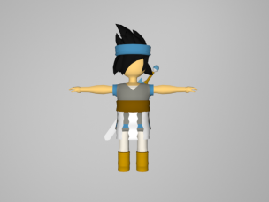 A character I created for a game that was canceled. That's only a first version of it, I never finished it.