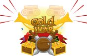 """A splash art for """"Gold War"""" a fake game. A created it just for fun and for practice."""