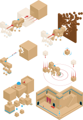 A few isometric diagrams I made for a game that was canceled. I almost always draw in isometric design to explain gameplay situations. It's pretty easy to draw and enjoyable for the customers or the team.