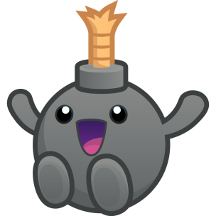 """The mascot of my Youtube channel, it has no name for now so it's code name is """"Bomb""""."""