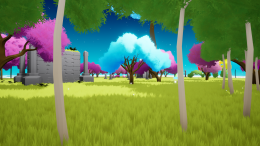 A test scene that I used to learn how to make dense foliage.